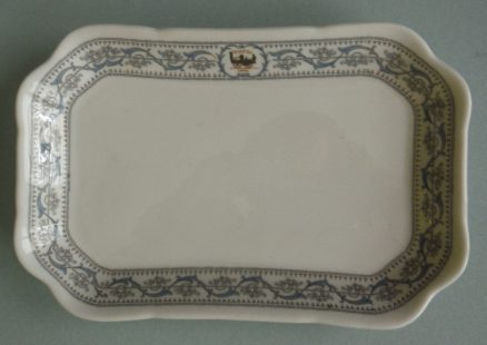 "New York Central DeWitt Clinton 8 1/2"" X 5 1/2 Relish Tray 1"