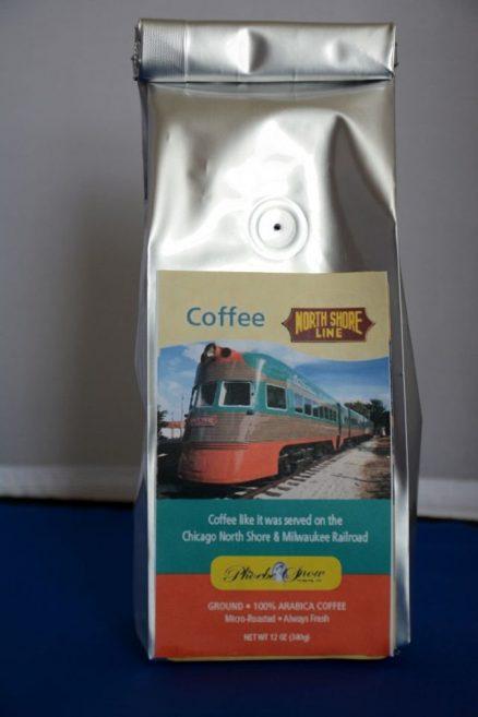 "Chicago North Shore & Milwaukee ""Electroliner"" Railroad Coffee 1"