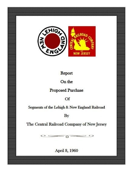 Proposed Purchase of Segments of the Lehigh & New England 1