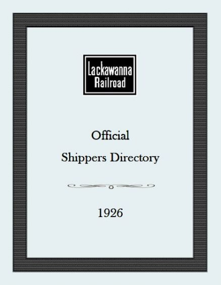 Lackawanna Railroad Official Shippers Directory 1926 1