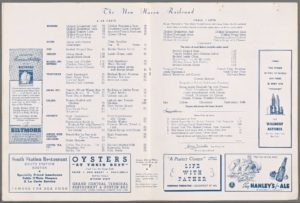 Menu Medley - New Haven 60