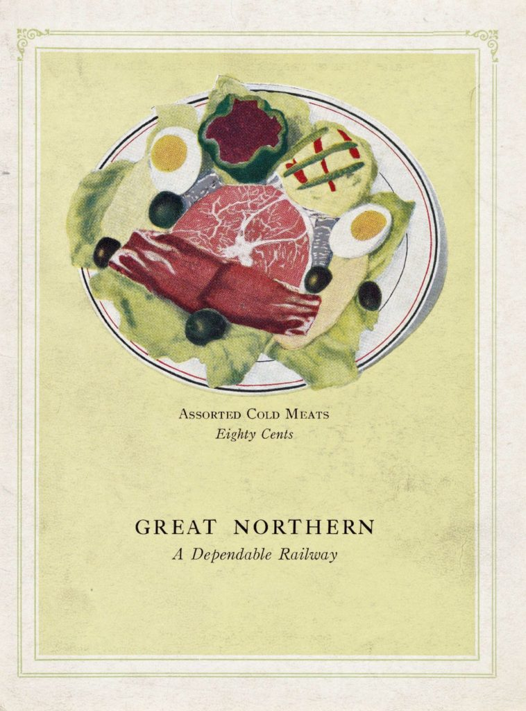 Menu Medley - Great Northern (before World War I) 6