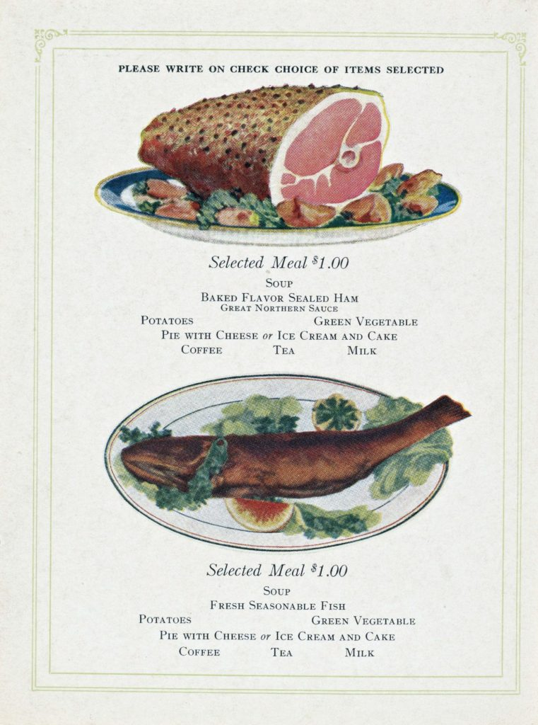 Menu Medley - Great Northern (before World War I) 7