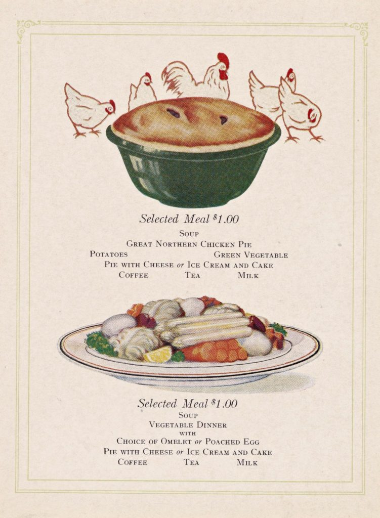 Menu Medley - Great Northern (before World War I) 54