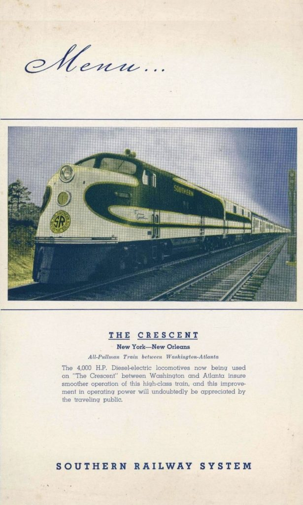Menu Medley - Southern Railway 4