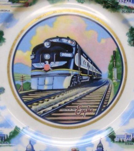 """Missouri Pacific Railroad """"State Capitals"""" 10 ½"""" Service Plate 1"""