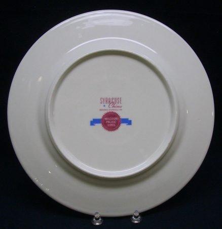 """Missouri Pacific Railroad """"State Capitals"""" 10 ½"""" Service Plate 2"""