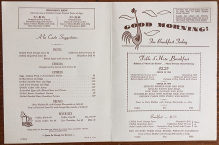 Santa Fe Breakfast Menu - October 1970 3