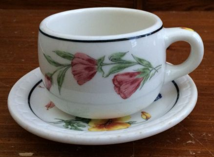 Southern Pacific - Prairie Mountain Wildflowers - Cup and Saucer 1