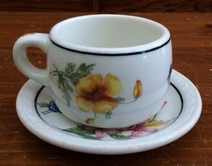 Southern Pacific - Prairie Mountain Wildflowers - Cup and Saucer 3