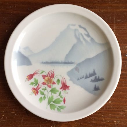 "Great Northern Mountains & Flowers 9 1/2"" Plate 1"