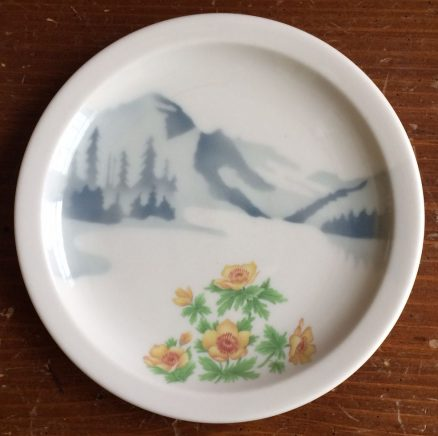 "Great Northern Mountains & Flowers 7 1/4"" Plate 1"