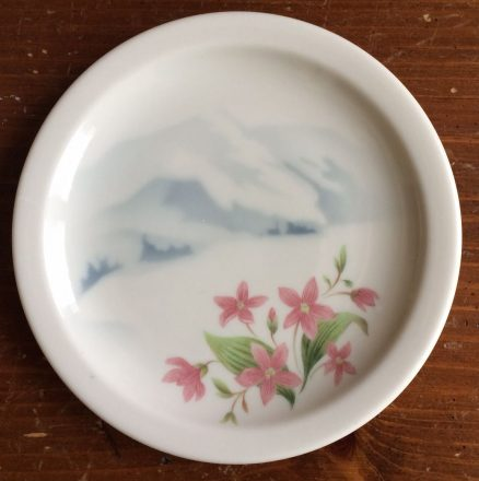 "Great Northern Mountains & Flowers 6 1/2"" Plate 1"