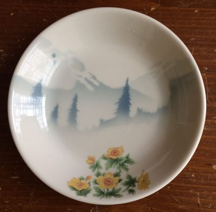 """Great Northern Mountains & Flowers 7 1/4"""" Bowl 1"""