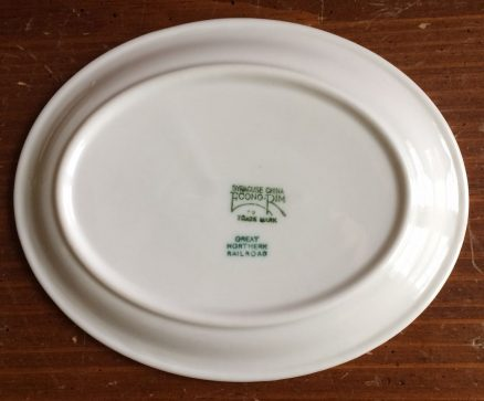 "Great Northern Glory of the West 7"" X 5 1/2"" Oval Plate 3"