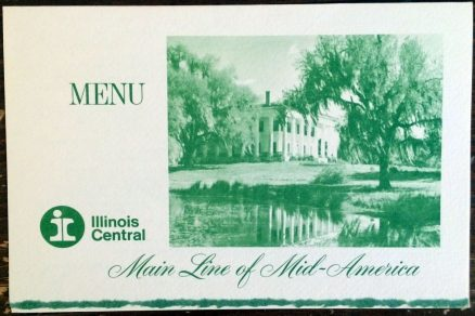 Illinois Central - Dinner Menu - May, 1970 1