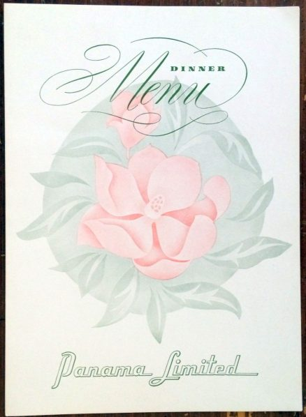 Illinois Central - Panama Limited Menu - November, 1965 1