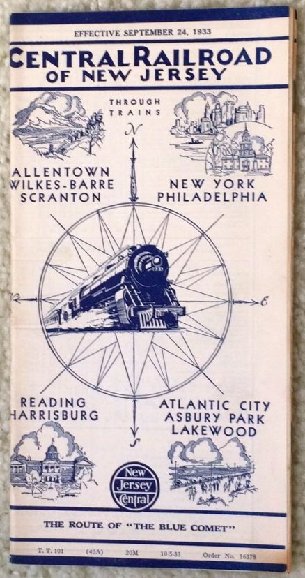 Central Railroad of New Jersey - Through Trains 9/24/1933 1