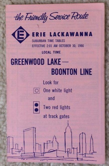 Erie Lackawanna Greenwood Lake - Boonton Line 10/30/1966 1
