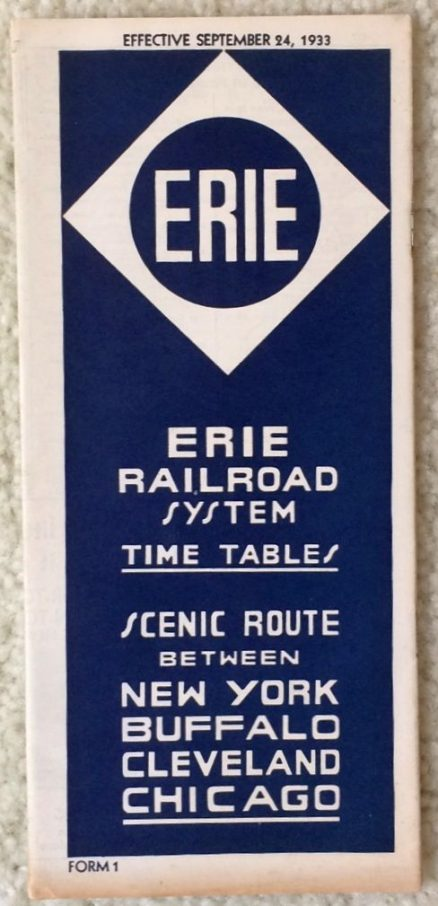 Erie - System Timetable 9/24/1933 1