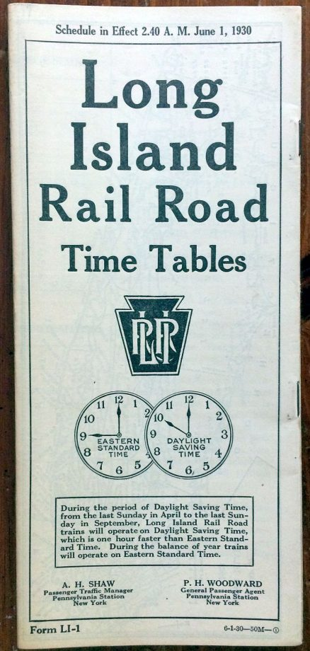 Long Island Rail Road - System Timetable 6/1/1930 1