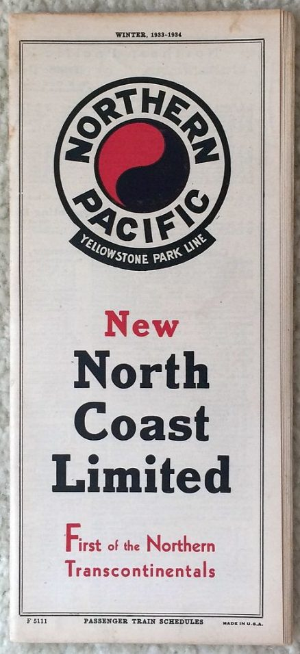 Northern Pacific - System Timetable Winter 1933-1934 1
