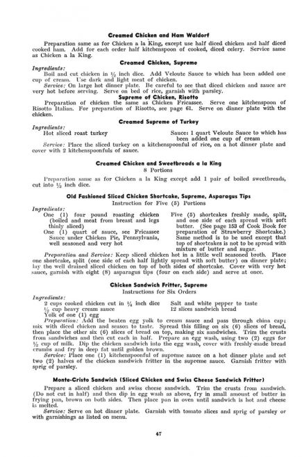 Pennsylvania Railroad Dining Car Department Cooking and Service Instructions 3