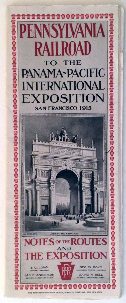 Pennsylvania Railroad to the Panama-Pacific Exposition San Francisco 1915 1