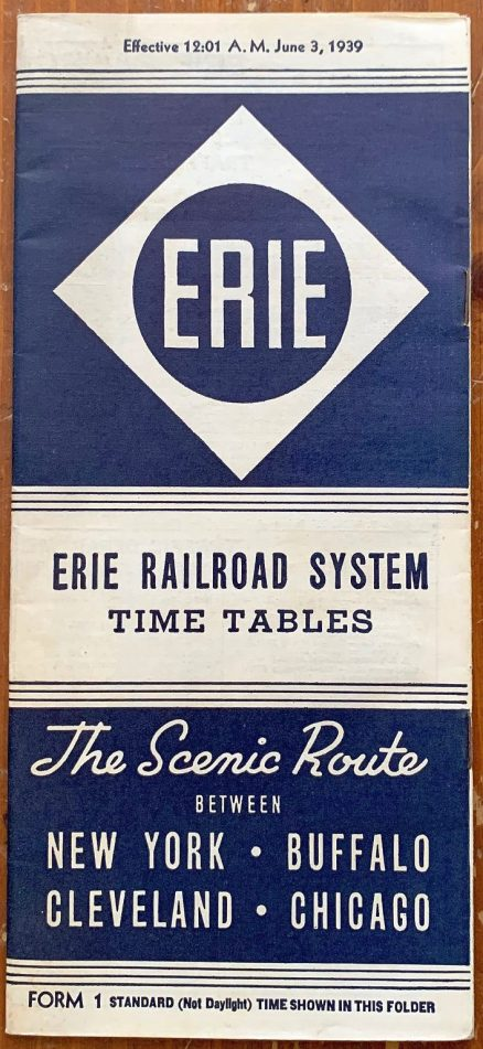Erie - System Timetable 6/3/1939 1