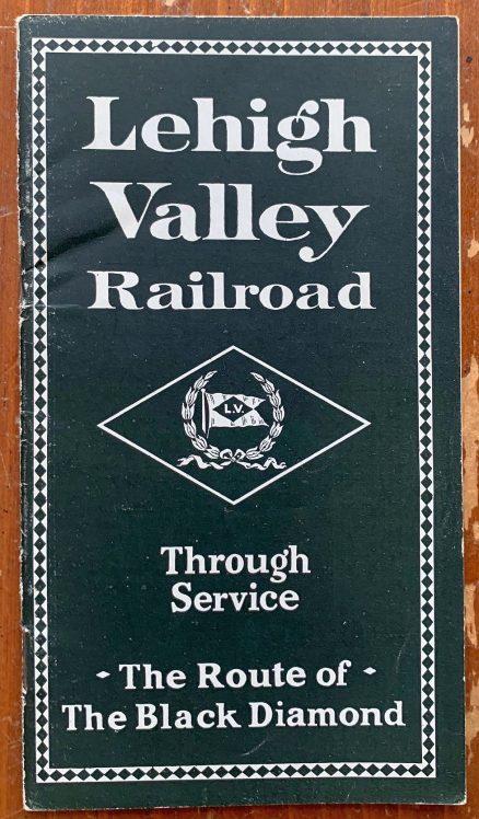 Lehigh Valley - Through Service Timetable January 1928 1