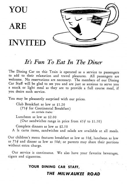 The Milwaukee Road – Recipes from the Dining Car 3