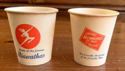 CMStP&P Milwaukee Road 2 oz paper cups 1