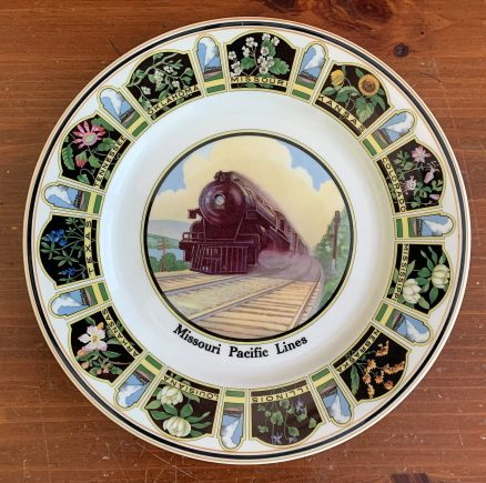 "Missouri Pacific Railroad ""State Flowers"" 10 ½"" Service Plate 1"